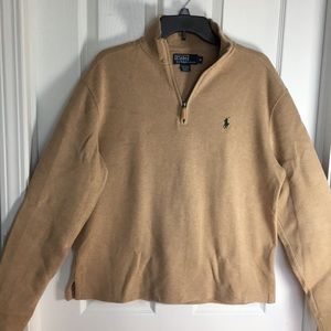 Polo Half Zip Pullover Sweater | Men's M